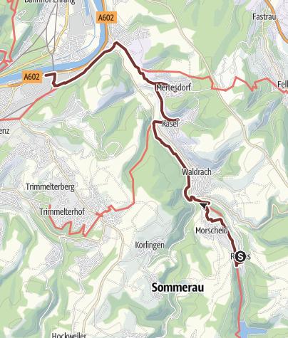 Karte / Martinusweg HW-39-15 Riveris - Trier
