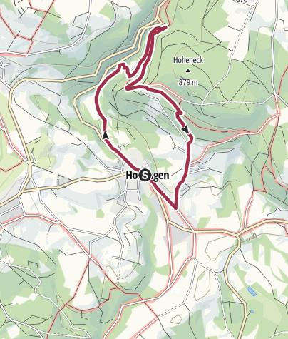 Karte / Vorwaldverwerfung