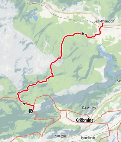 Karte / Etappe 03 Vom Gletscher zum Wein Nordroute Stoderzinken - Bad Mitterndorf