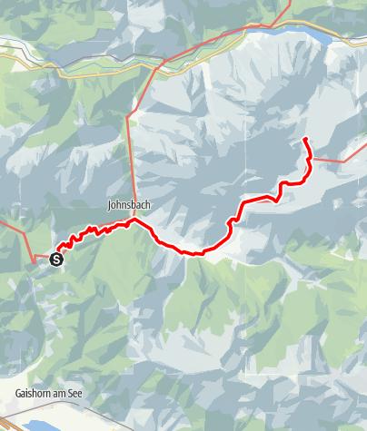 Karte /  Etappe 10 Vom Gletscher zum Wein Nordroute Gesäuse Mödlingerhütte - Heßhütte