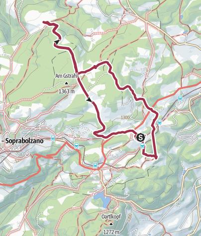 Map / Vom Lichtenstern über Waldnereck zum Lobishof und zurück