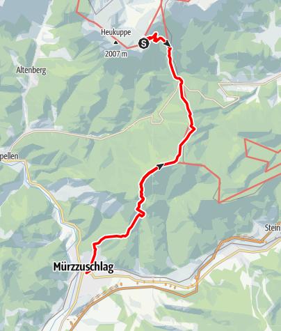 Karte / Etappe 20 Vom Gletscher zum Wein Nordroute Rax Karl Ludwig Haus - Mürzzuschlag