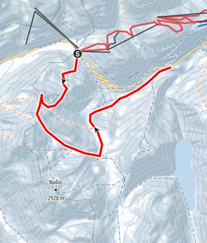 Karte / Pazolastock / Piz Nurschalas