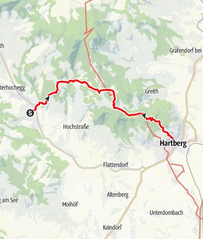 Karte / Etappe 27 Vom Gletscher zum Wein Nordroute Pöllau - Hartberg