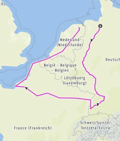 Karte / Tourenplanung am 23. April 2018