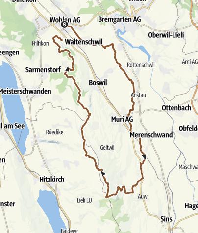 Karte / Wohlen- Horben - Wohlen