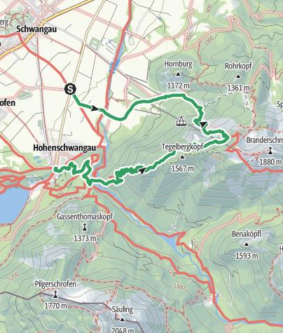 Map / Schwangau - Tegelberg - Marienbrücke