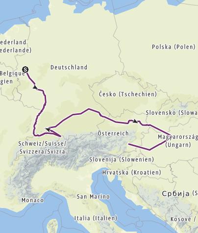 Karte / Sommertour