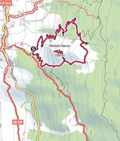 Karte / Ла Пальма. Прогулка по весеннему лесу на вулкан Таджуя