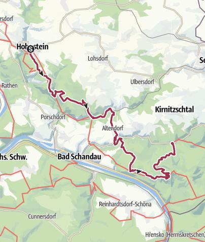 Karte / Malerweg in 5 Etappen 2