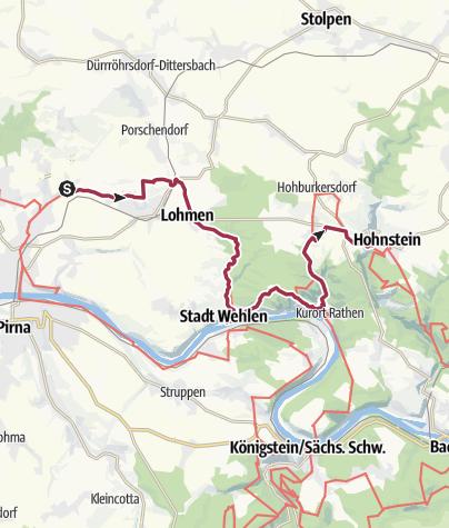 Karte / Malerweg in 5 Etappen 1