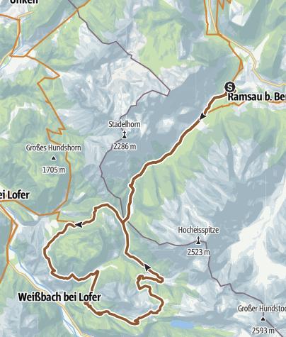Map / Litzkogelstrip aus Ramsau