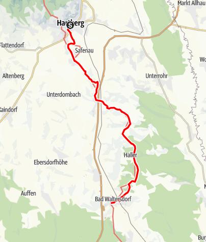 Karte / Etappe 28 Vom Gletscher zum Wein Nordroute Hartberg - Bad Waltersdorf