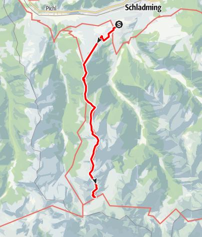 Karte / Etappe 03 Vom Gletscher zum Wein Südroute Rohrmoos - Giglachseen
