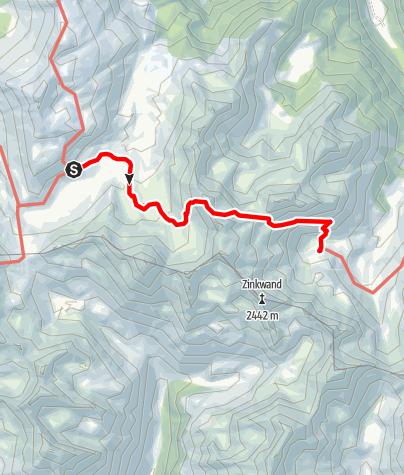 Karte / Etappe 04 Vom Gletscher zum Wein Südroute Ignaz Mattis Hütte - Keinprechthütte