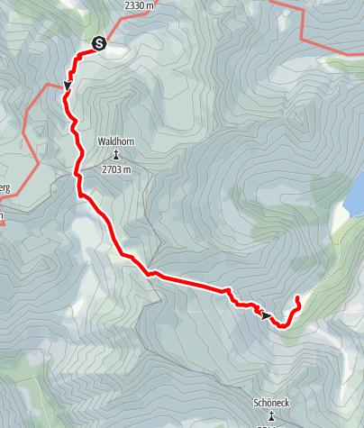 Karte / Etappe 07 Vom Gletscher zum Wein Südroute Preintalerhütte - Putzentalalm