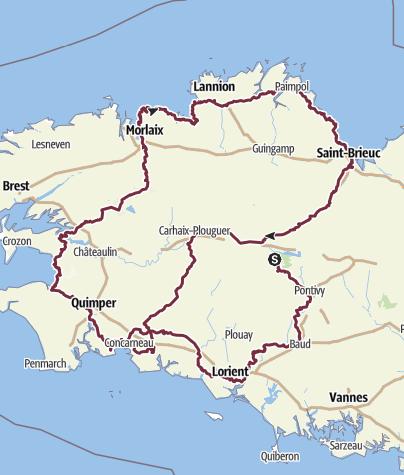 Karte / rund um die Bretagne