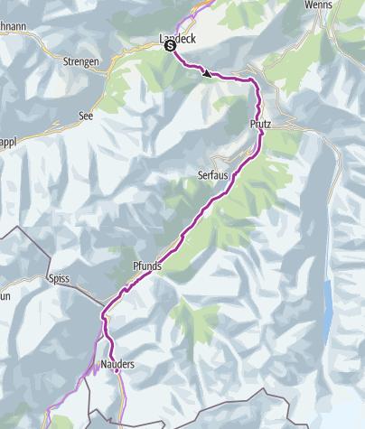 Map / Landeck to Nauders