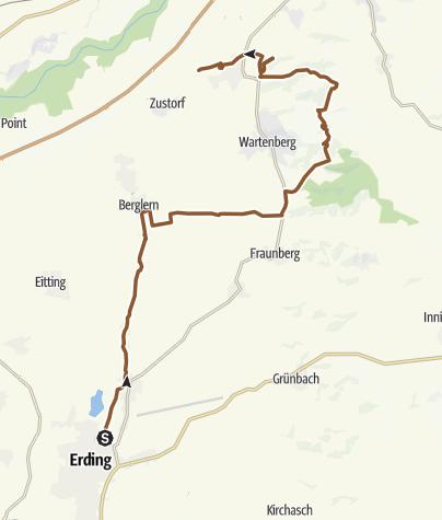 Karte / Erding-Auerbach-Langenpreising