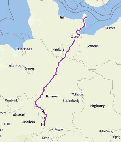Karte / Deutschland Süd-Nord Teil2