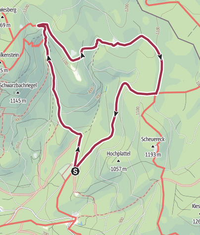 Karte / Falkensteiner Schachten Runde