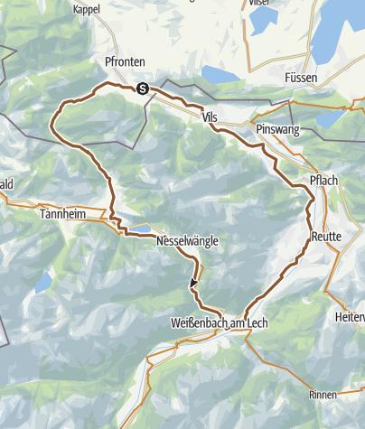Map / Alter Gaichpass - Tannheimertal