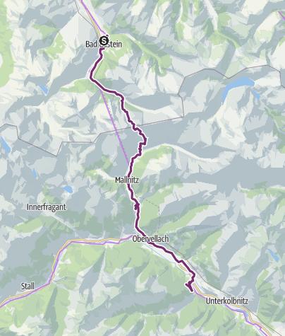 Mapa / 3 tappa Bad Gastein/ Mallnitz- Spittal an der Drau