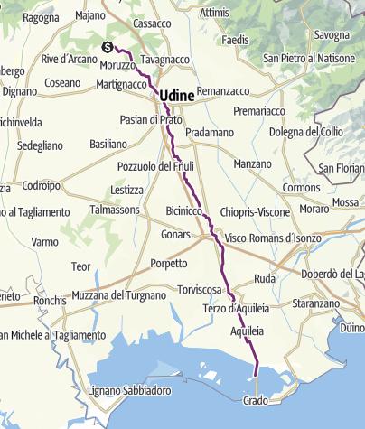 Cartina / 8 tappa - Udine-Grado