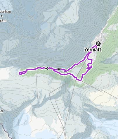Karte / Zermatt 16,5 km 600hm