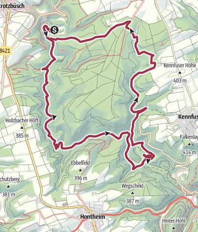 מפה / Enterburg über Drei-Eichen