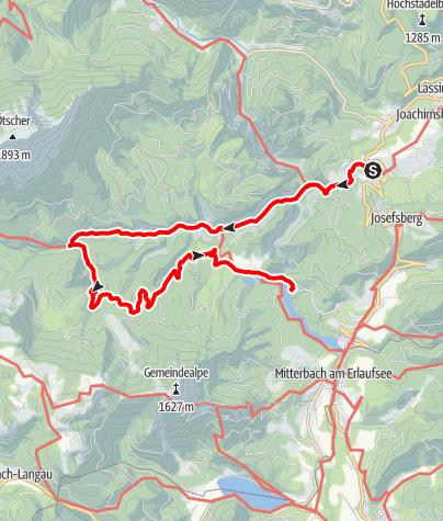 Karte / Wienerbruck - Ötschergräben - Vorderötscher - Erlaufklause