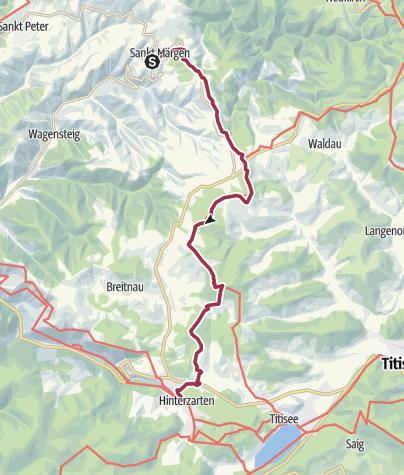 Karte / Von St. Märgen nach Hinterzarten