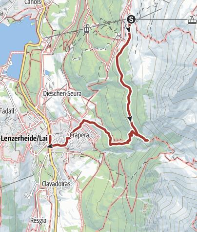 Map / Alpenfloralehrpfad