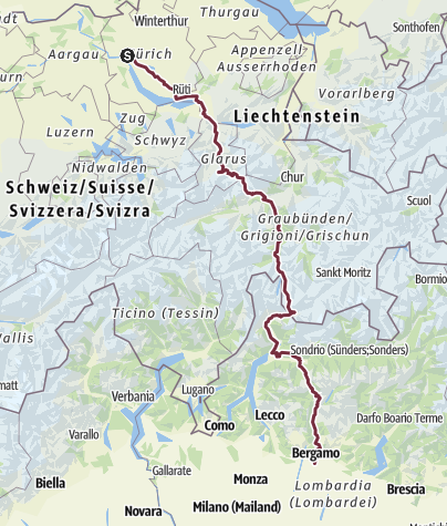 Map / Zürich/Flims-Bergamo 2018/2019