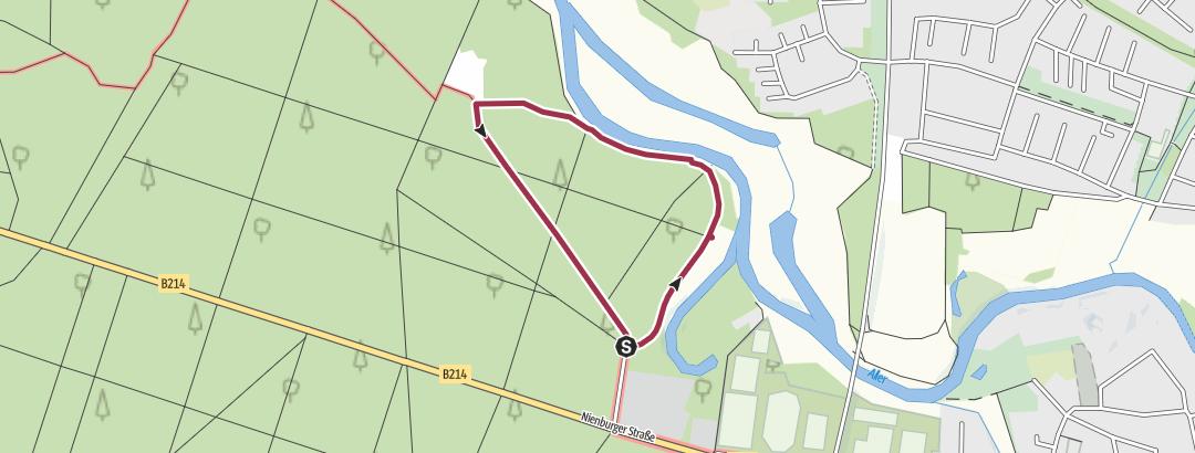 Mapa / Tourenplanung am 9. Mai 2018