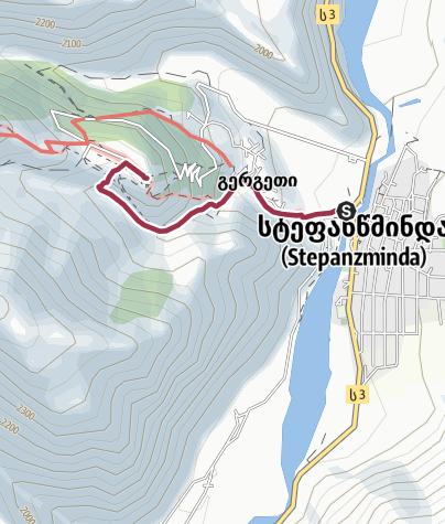 Karte / Kasbegi Stepandsminda Tour zur Kirche
