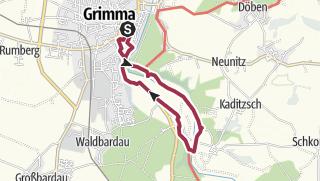 Carte / Von Grimma zur Schiffsmühle entlang der Mulde...
