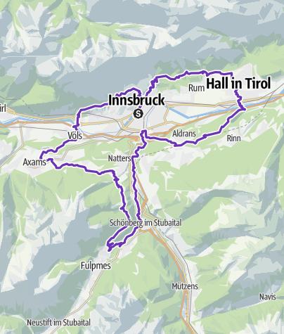 Karte / IATF 2018 - 85 km +++modifizierte Strecke +++ Innsbruck Alpine Trailrunning Festival
