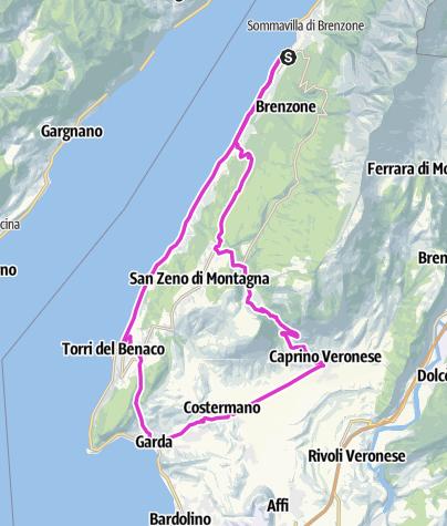 Karte / 3. Tag Gardasee 2. Tour
