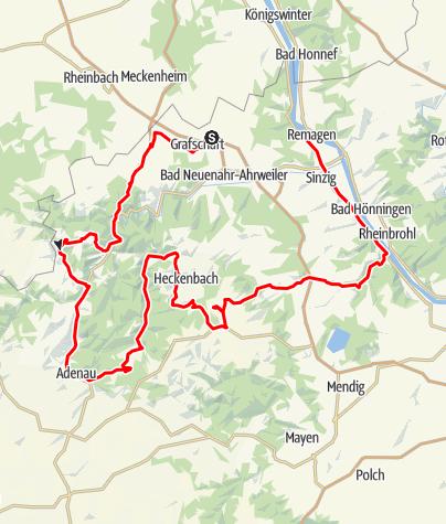 Cartina / Eifel Motorradtour: Rund um Spessart