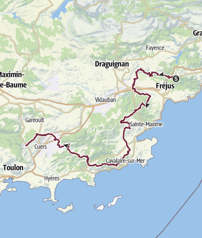 Karte / GR51 A - Balcon de la Méditerranée - Du Col de Testanier à Belgentier