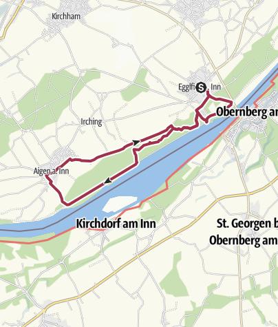 Karte / In den Innauen am Unteren Inn zwischen Egglfing und Aigen