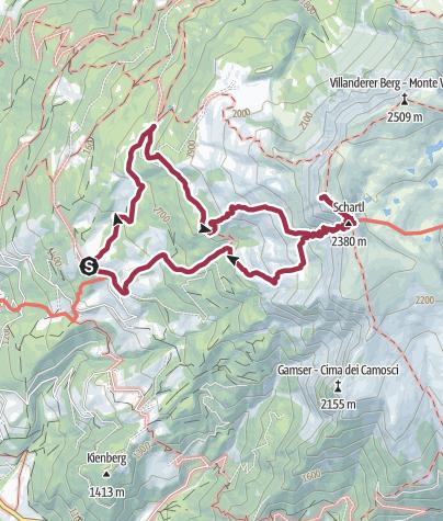Karte / Der Sarner Hausberg - Die Sarner Scharte