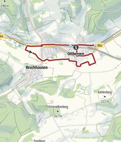 Karte / Ottberger Bahnhofswanderweg