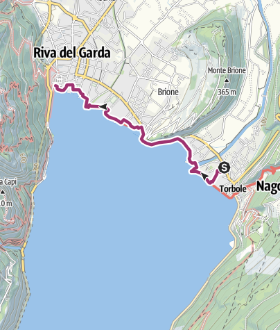 Map / From Torbole to Riva
