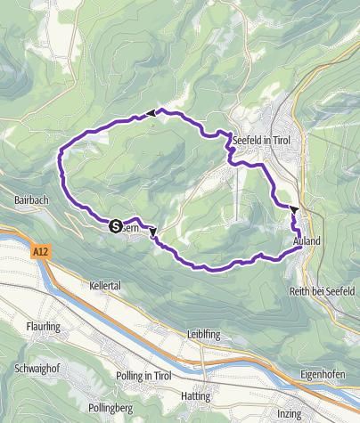 Karte / Mösern-Auland-Seefeld-Wildmoos-Mösern