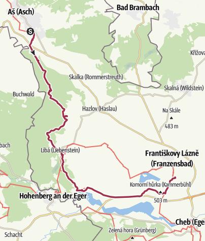 Karte / Grenzwanderung Tschechien Etappe 88