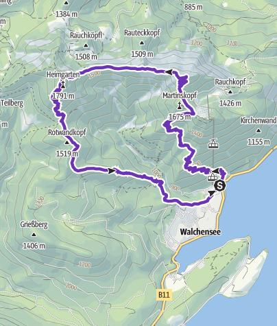 Karte / Herzogstand-Heimgarten-Runde