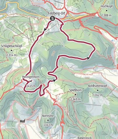 Höhenmeter Karte.Höhenmeter Auf Dem Herzogenhorn Wanderung Outdooractive Com
