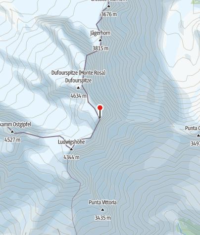 מפה / Capanna Regina Margherita